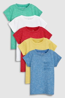 Fun Brights Short Sleeve T-Shirts Five Pack (3-16yrs)