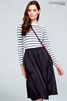 HotSquash Black Box Pleat Silky Skirt