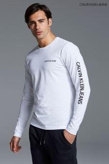 Calvin Klein Jeans White Long Sleeved Top