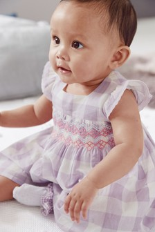 Smock Prom Dress And Pants Set (0mths-2yrs)