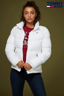 Tommy Jeans White Classic Quilted Jacket