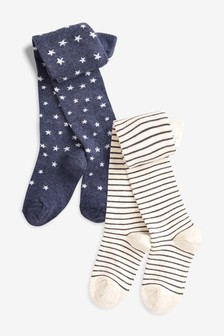 Star And Stripe Tights Two Pack (Older)