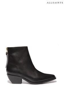 AllSaints Black Lenora Ankle Boots