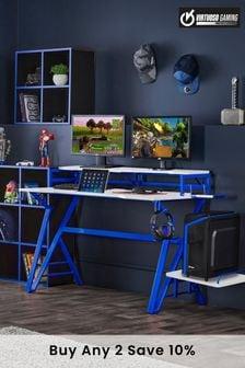 Carbon Fibre Effect Gaming Desk By Virtuoso