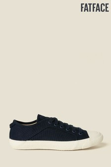 FatFace Blue Organic Lace-Up Trainer