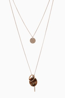 Tortoiseshell Effect Two Layer Necklace