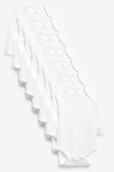 7 Pack GOTS Organic Long Sleeve Bodysuits (0mths-3yrs)