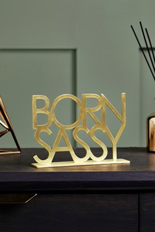 'Born Sassy' Metal Word