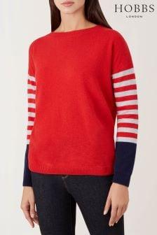 Hobbs Red Stripe Sofia Sweater