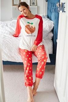 Women's Matching Family Maternity Pudding Pyjamas