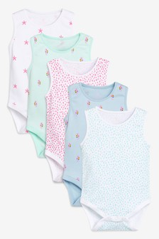 Under The Sea Vests Five Pack (0mths-2yrs)