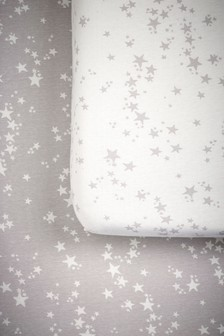 2 Pack Stars Cot Fitted Sheets