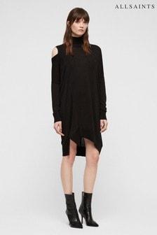 AllSaints Black Cecily Dress
