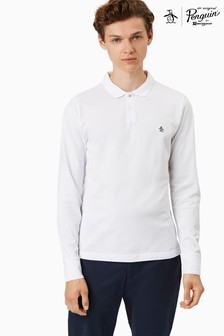 Original Penguin® Long Sleeve Raised Rib Polo