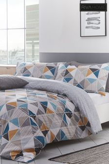 Riva Home Harlequin Geo Duvet Cover and Pillowcase Set