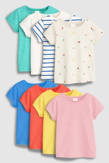 Short Sleeve T-Shirts Eight Pack (3mths-7yrs)