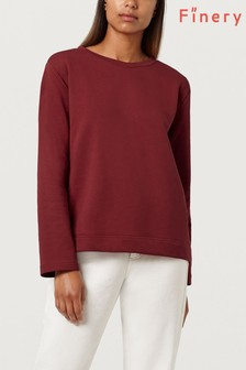 Finery Garnet Rose Saffron Ribbon Detail Sweatshirt
