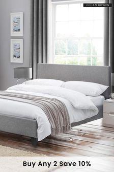 Rialto Light Grey Linen Bed By Julian Bowen