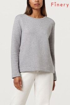 Finery Grey Marl Saffron Ribbon Detail Sweatshirt