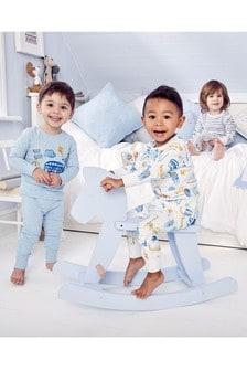 Stripe/Transport Snuggle Fit Pyjamas Three Pack (9mths-8yrs)