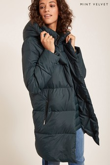 Mint Velvet Green Padded Coat