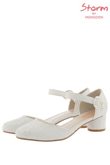 Monsoon Storm Ivory Andrea Lace Two Part Shoe