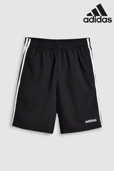 52890fe5b0f9ed adidas Black 3 Stripe Woven Short