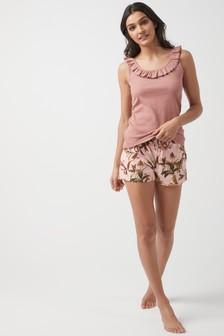 Cotton Rib Vest Short Set