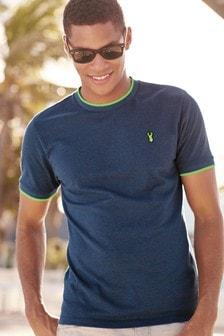 Fluro Tipped Pique T-Shirt