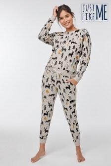 Womens Matching Family Woodland Pyjamas