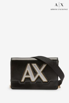 Armani Exchange Isabel Black Logo Cross Body Bag