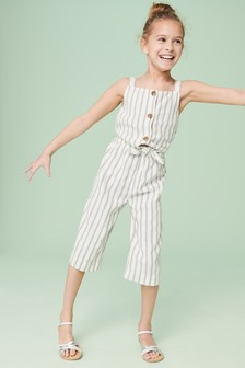 Stripe Tie Front Playsuit (3-16yrs)