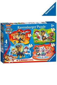 Ravensburger PAW Patrol 4 Large Shaped Jigsaw Puzzles 10,12,14,16pc