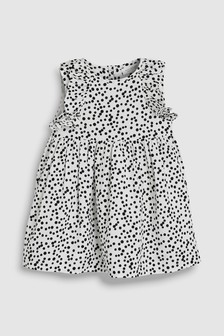 Spot Frill Dress (0mths-2yrs)