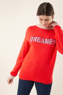 Dream Slogan Sweater