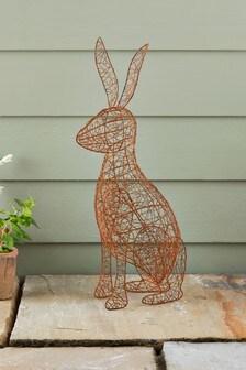 Wire Hare Sculpture