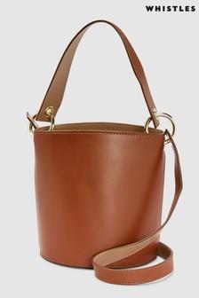Whistles Tan Matilda Bucket Bag