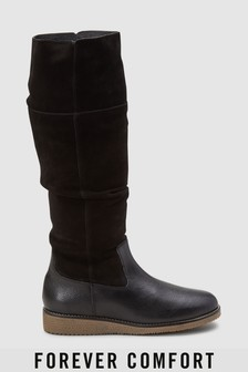 Forever Comfort® Crepe Sole Slouch Boots