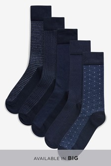 Formal Mix Pattern Socks Five Pack