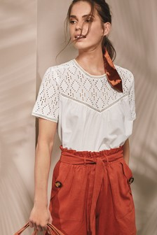 Broderie Smock Top