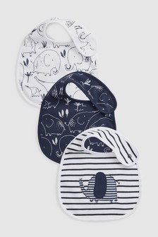 Delicate Elephant Regular Bibs Three Pack