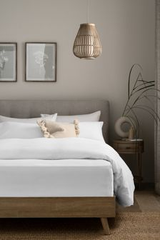 White 100% Cotton Supersoft Brushed Deep Fitted Sheet