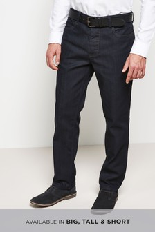 Coated Belted Stretch Jeans