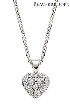 Beaverbrooks 9ct Diamond Heart Pendant