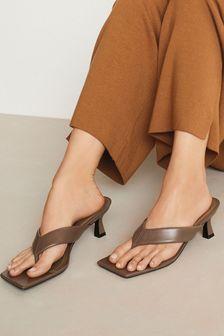 Signature Leather Toe Thong Mules