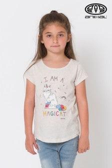 Animal Vanilla Cream Marl Magicat Graphic T-Shirt