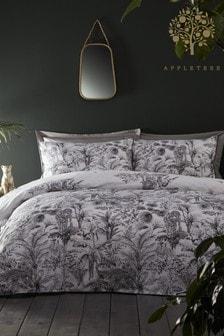 Appletree Eden Safari Animals Piped Cotton Duvet Cover and Pillowcase Set