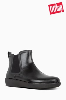 FitFlop™ Black Chai Microstud Chelsea Boots