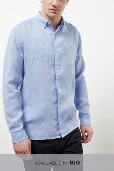 Long Sleeve Pure Linen Shirt