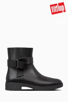 FitFlop™ Black Knot Ankle Boots